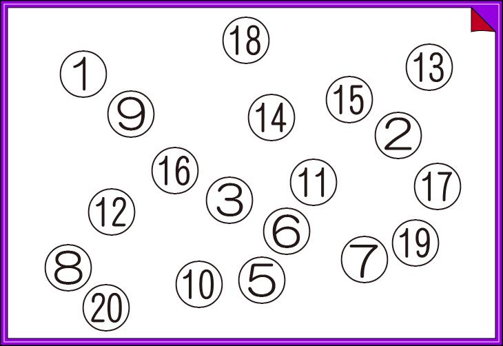 ない数はいくつ 集中力クイズ ... : パズル図形 : パズル
